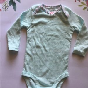 Striped floral onesie $2 add on